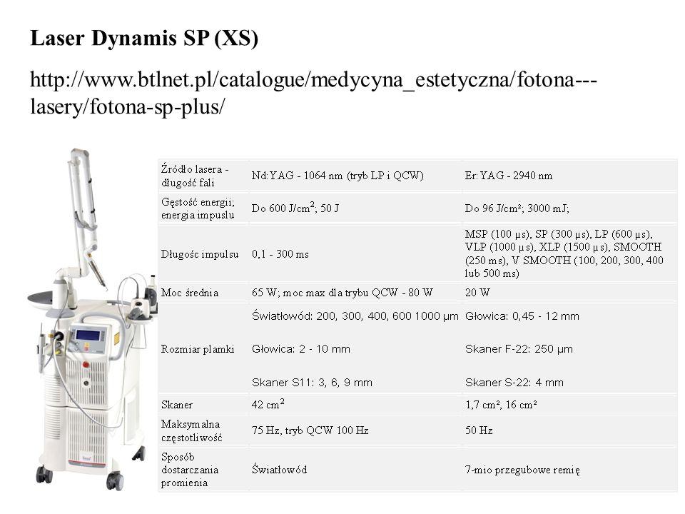 Laser Dynamis SP (XS) http://www.btlnet.pl/catalogue/medycyna_estetyczna/fotona---lasery/fotona-sp-plus/