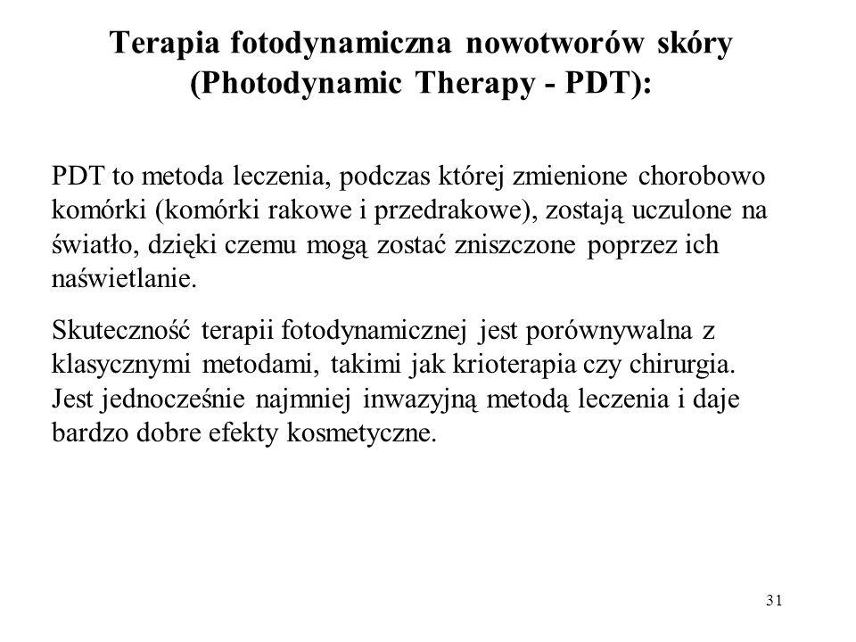 Terapia fotodynamiczna nowotworów skóry (Photodynamic Therapy - PDT):