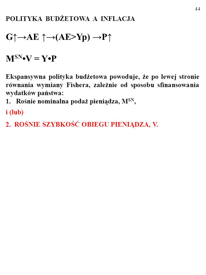 G↑→AE ↑→(AE>Yp) →P↑ MSN•V = Y•P