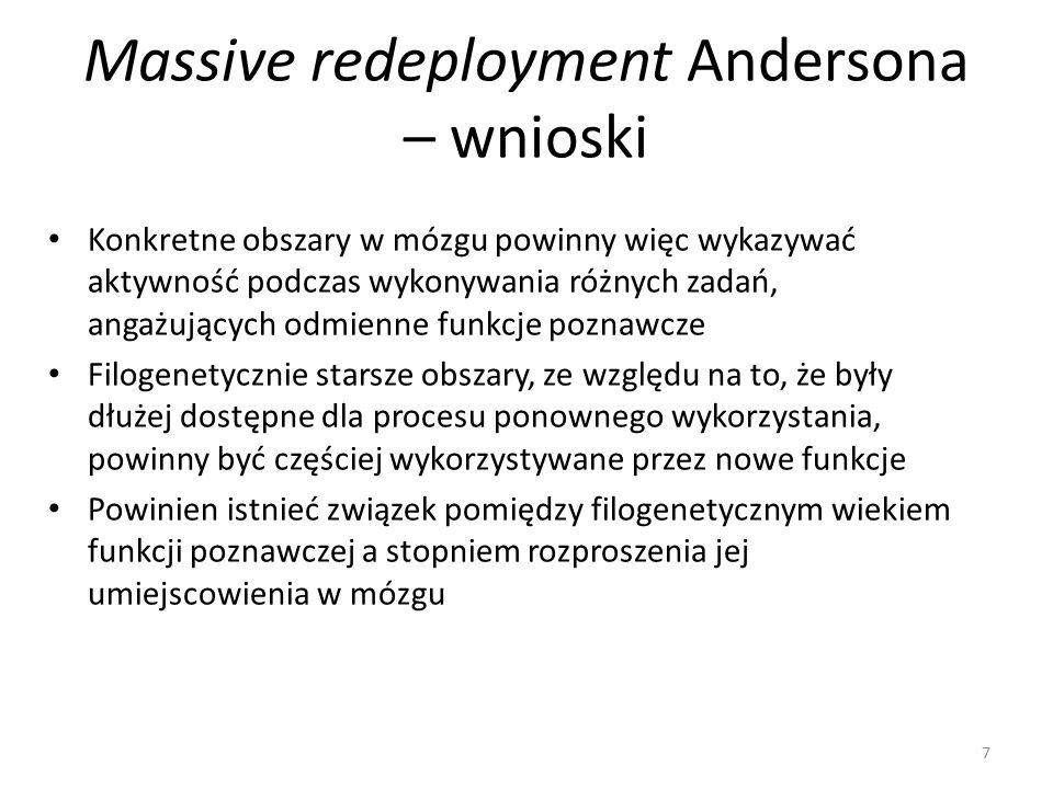 Massive redeployment Andersona – wnioski