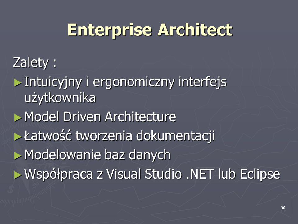 Enterprise Architect Zalety :
