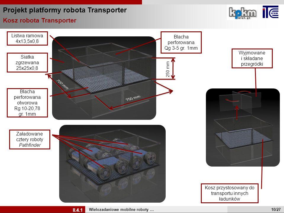 Projekt platformy robota Transporter