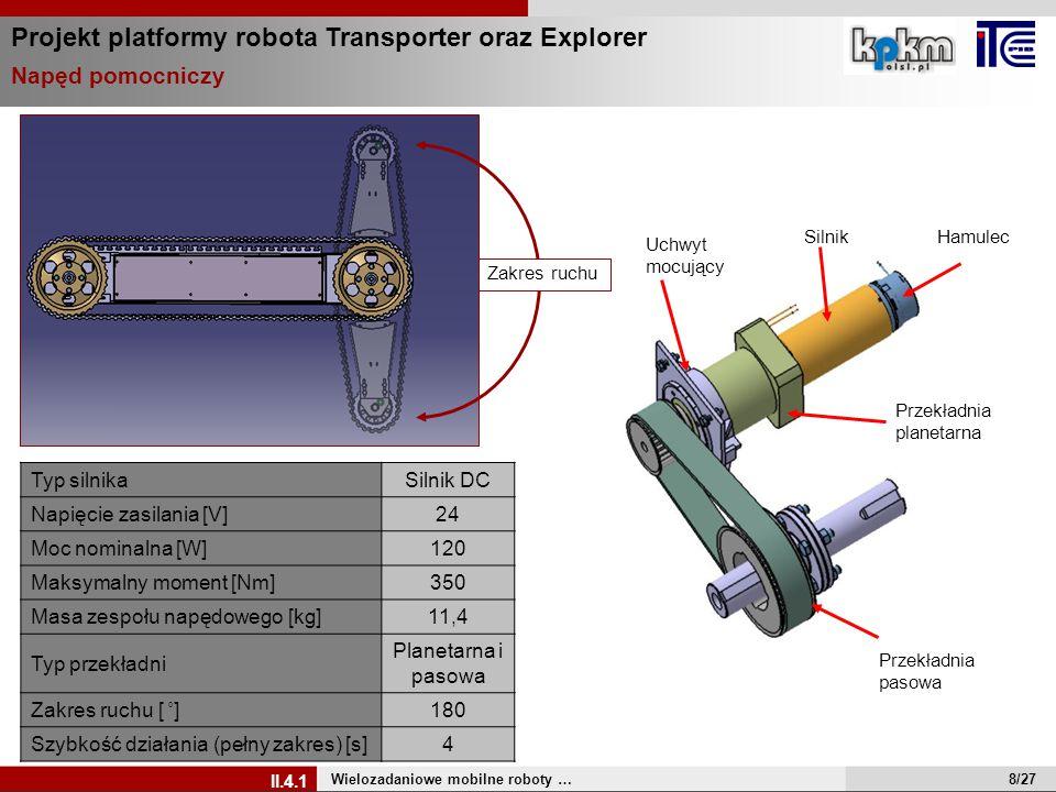 Projekt platformy robota Transporter oraz Explorer