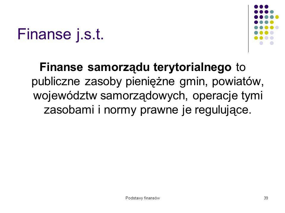 Finanse j.s.t.