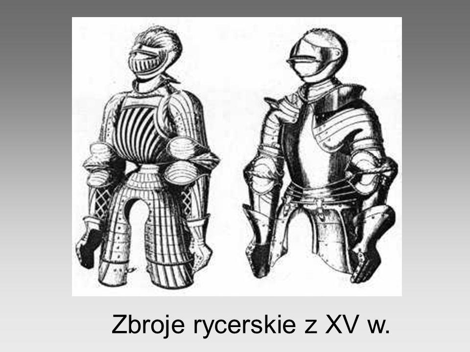 Zbroje rycerskie z XV w.