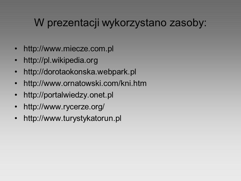W prezentacji wykorzystano zasoby: