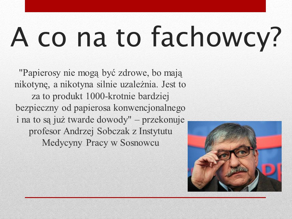 A co na to fachowcy