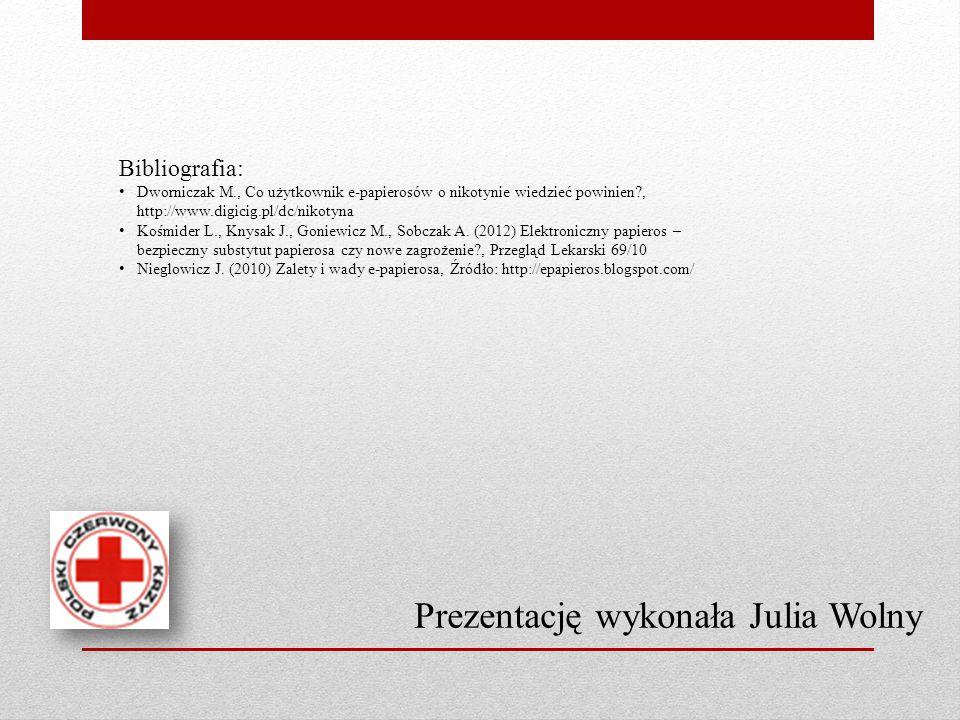 Prezentację wykonała Julia Wolny