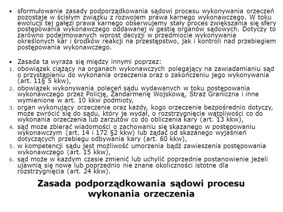 Zasada podporządkowania sądowi procesu wykonania orzeczenia