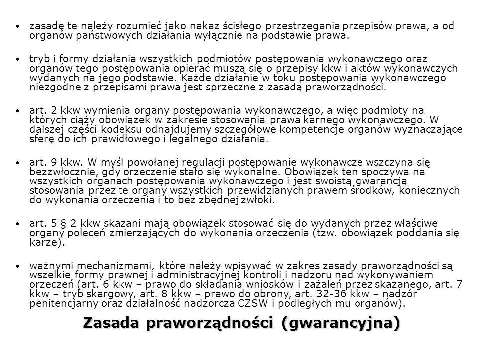 Zasada praworządności (gwarancyjna)