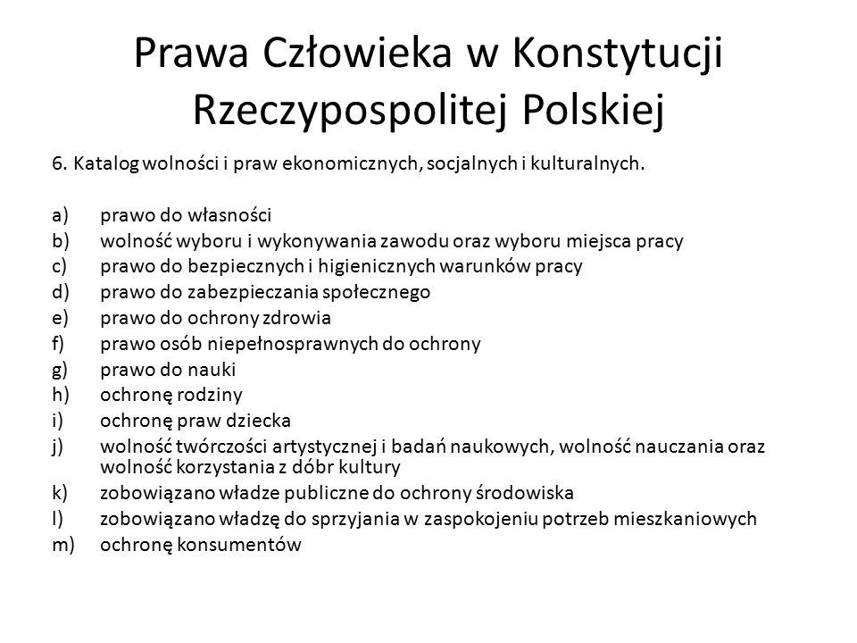 Prawa Człowieka w Konstytucji Rzeczypospolitej Polskiej