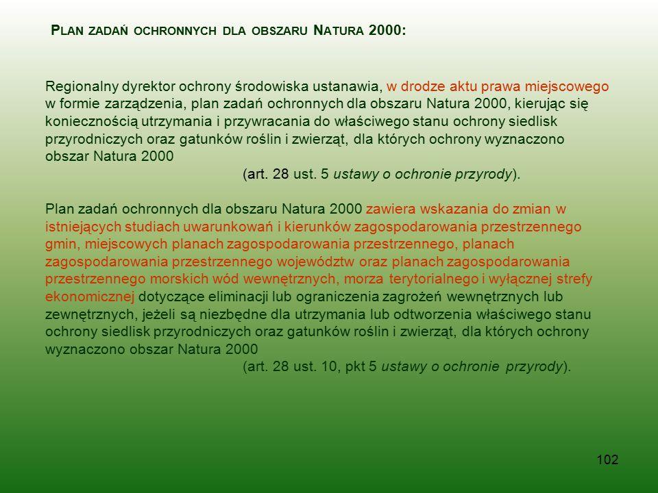 Plan zadań ochronnych dla obszaru Natura 2000: