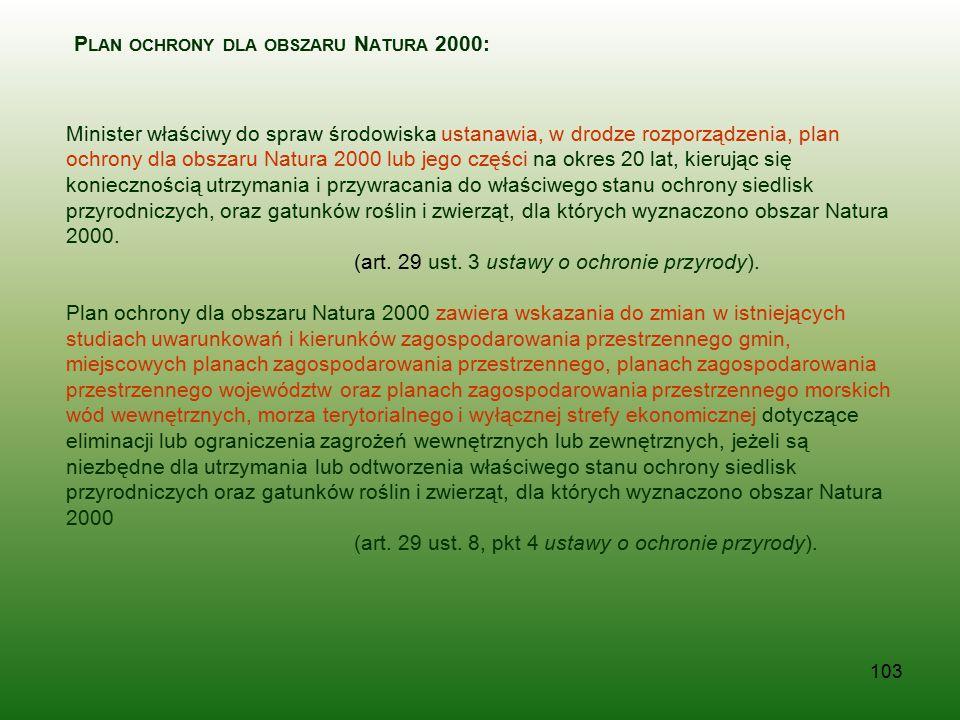 Plan ochrony dla obszaru Natura 2000: