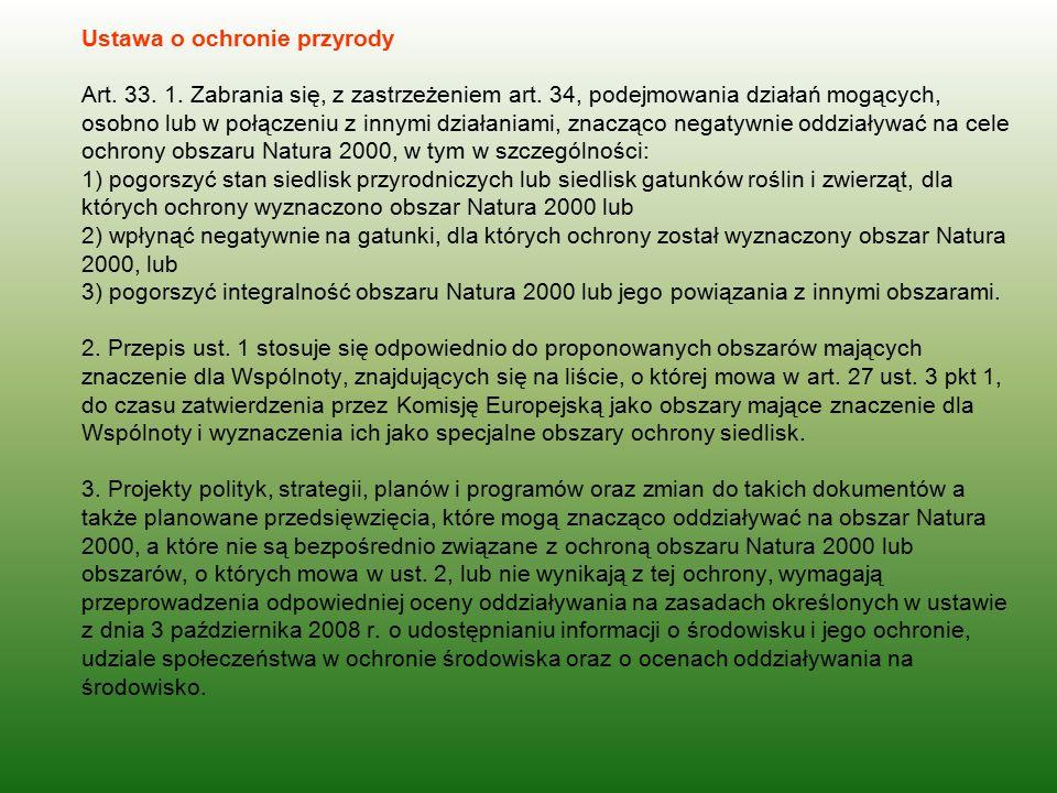 Ustawa o ochronie przyrody Art. 33. 1