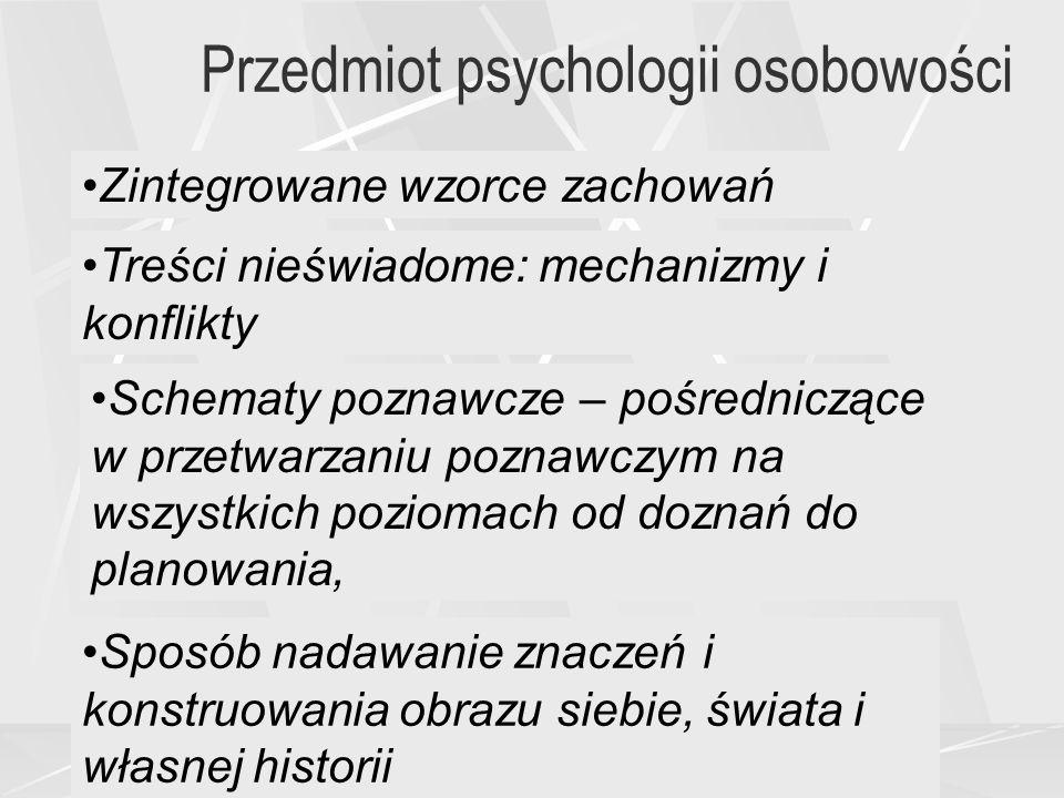 Przedmiot psychologii osobowości