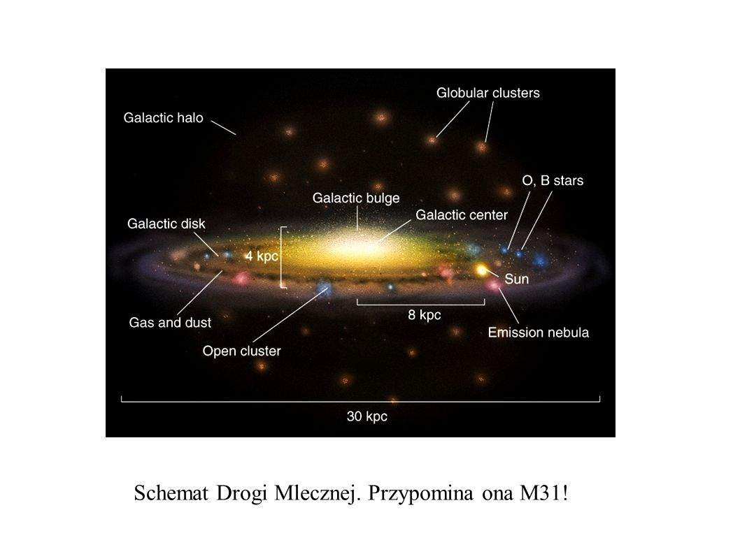 Schemat Drogi Mlecznej. Przypomina ona M31!