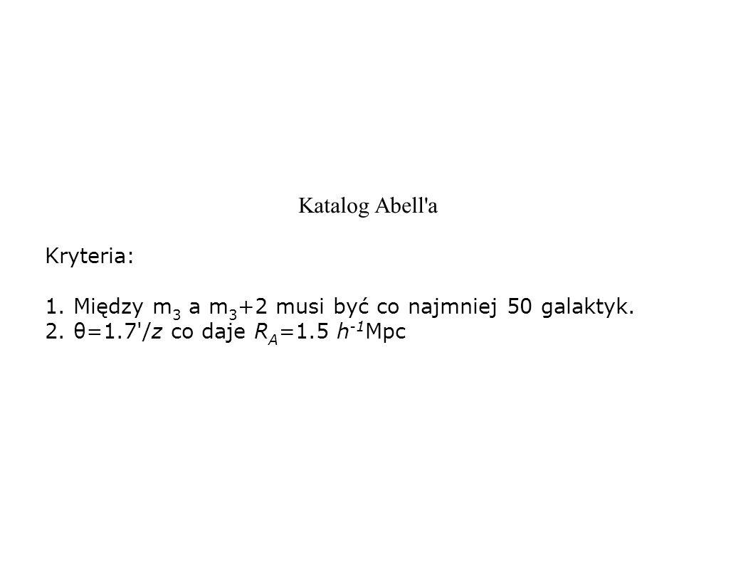 Katalog Abell a Kryteria: