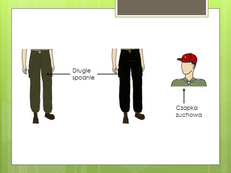 Długie spodnie Czapka zuchowa