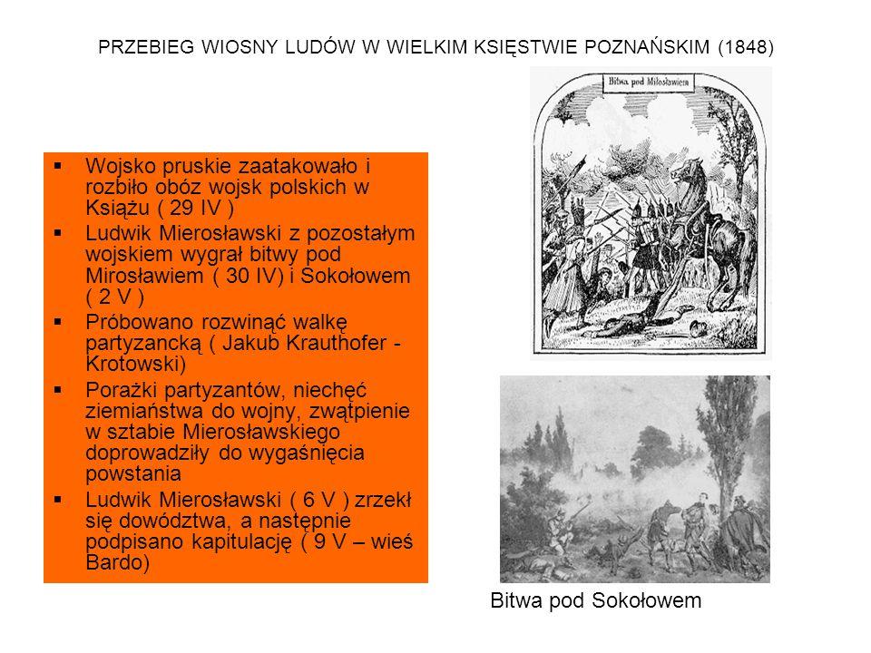 PRZEBIEG WIOSNY LUDÓW W WIELKIM KSIĘSTWIE POZNAŃSKIM (1848)