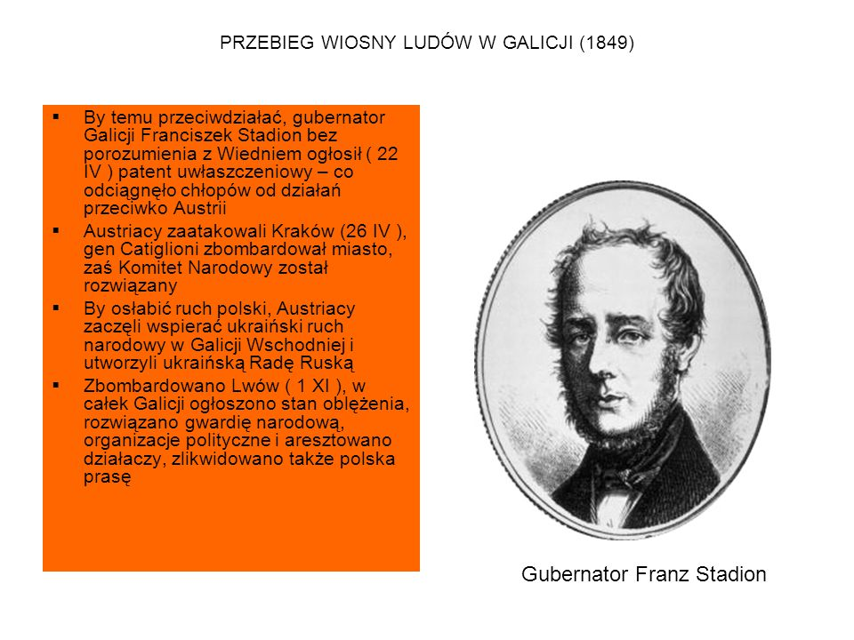 PRZEBIEG WIOSNY LUDÓW W GALICJI (1849)