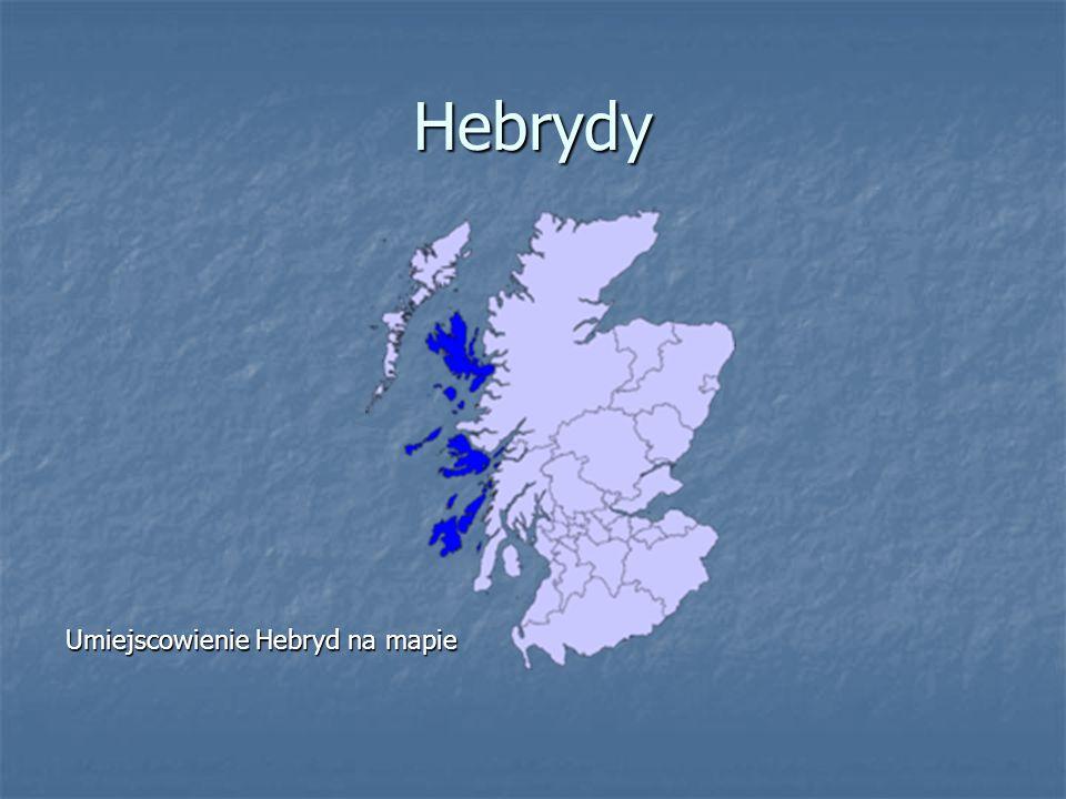 Hebrydy Umiejscowienie Hebryd na mapie