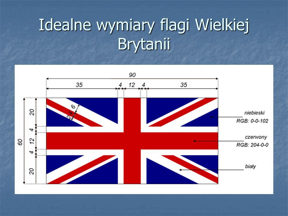 Idealne wymiary flagi Wielkiej Brytanii