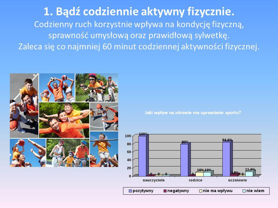 1. Bądź codziennie aktywny fizycznie