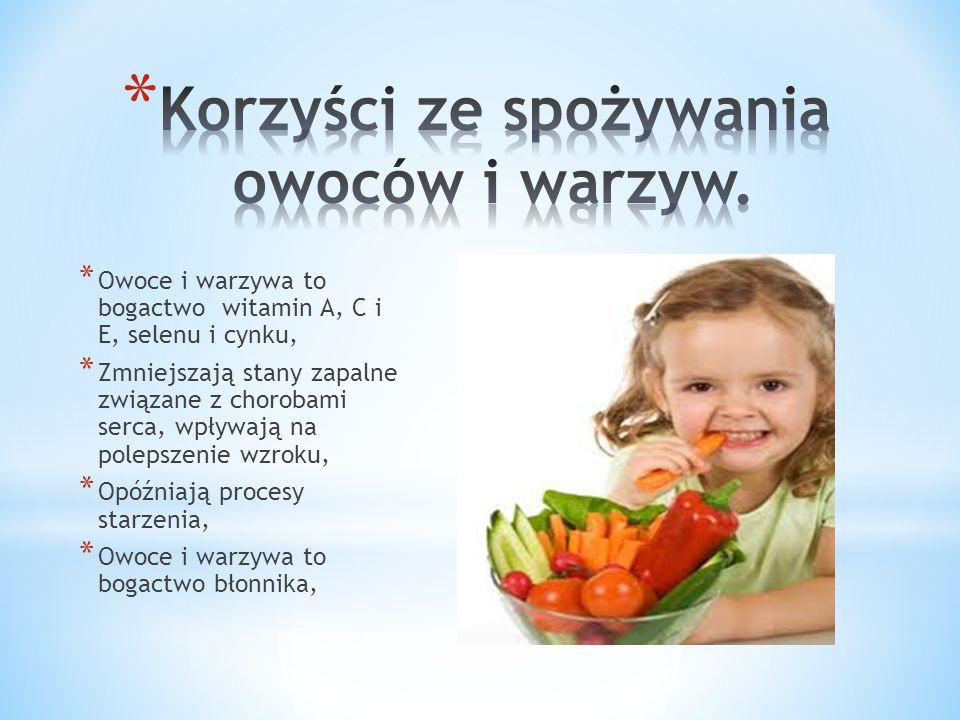 Korzyści ze spożywania owoców i warzyw.