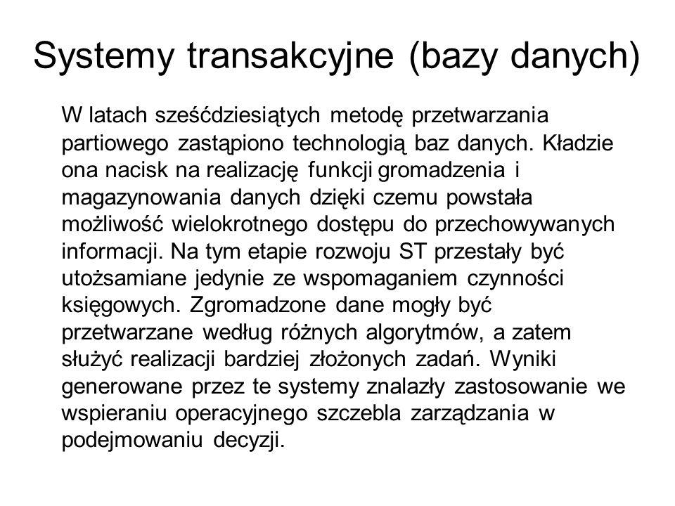Systemy transakcyjne (bazy danych)