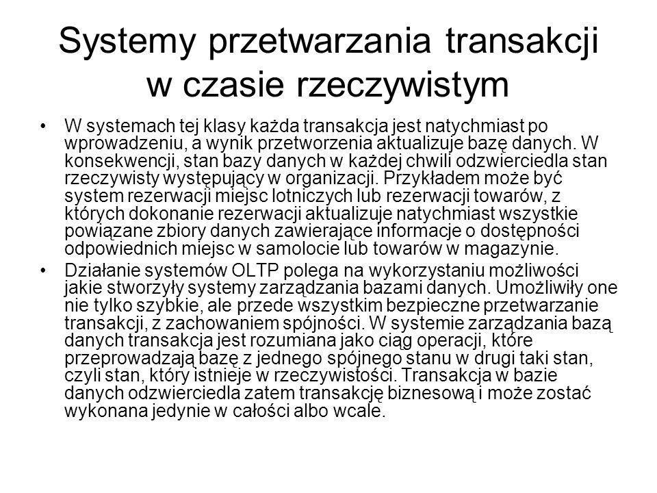 Systemy przetwarzania transakcji w czasie rzeczywistym