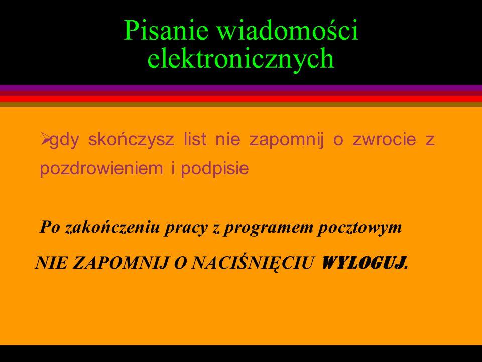 Pisanie wiadomości elektronicznych