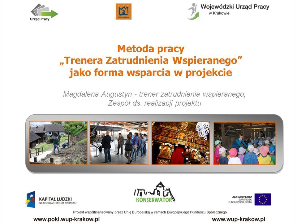"""Metoda pracy """"Trenera Zatrudnienia Wspieranego jako forma wsparcia w projekcie"""