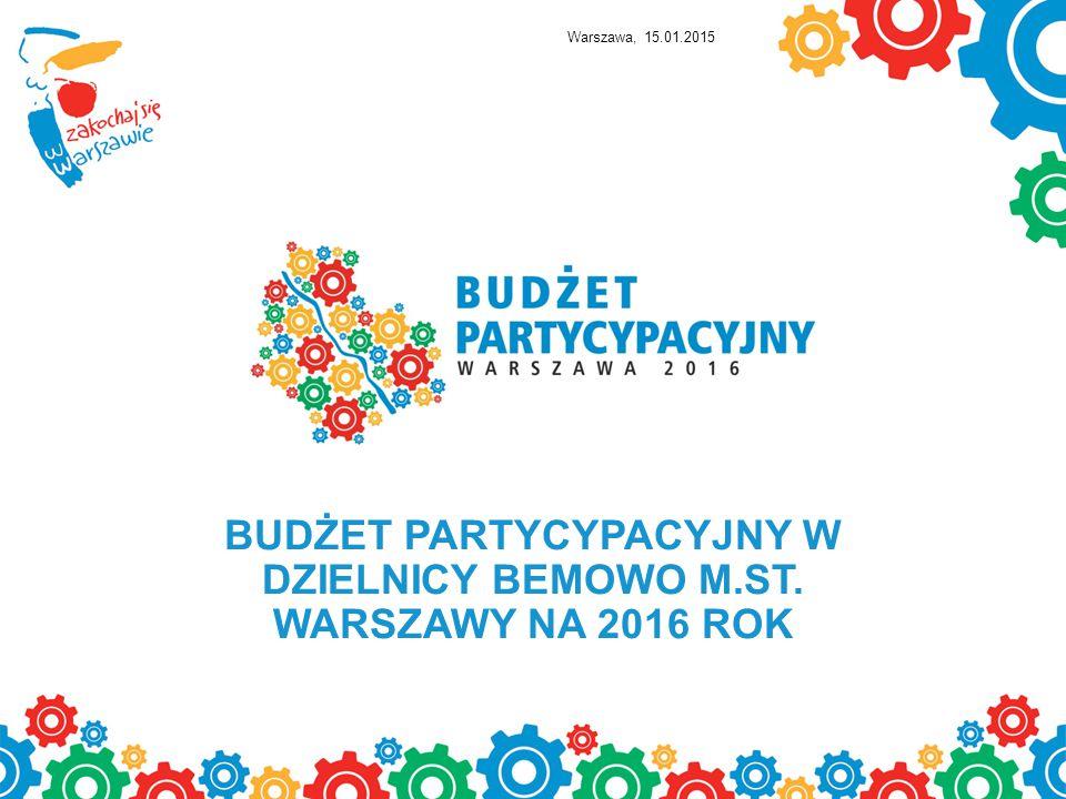 BUDŻET PARTYCYPACYJNY W DZIELNICY BEMOWO M.ST. WARSZAWY NA 2016 ROK