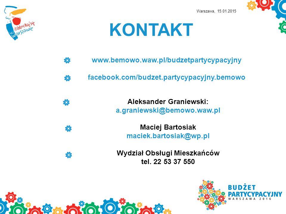 KONTAKT www.bemowo.waw.pl/budzetpartycypacyjny