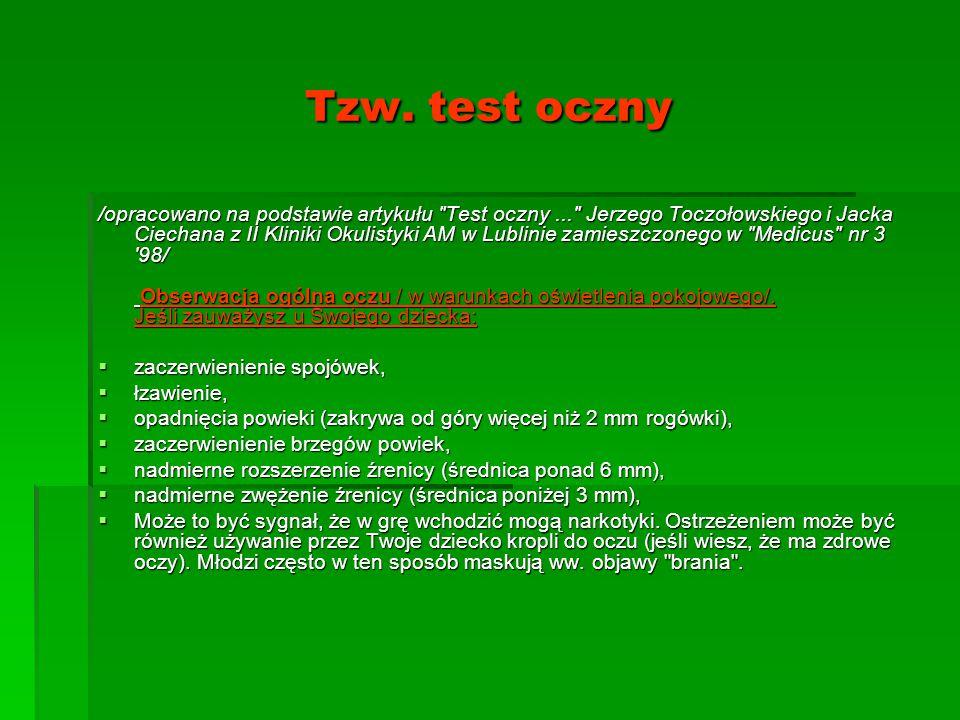 Tzw. test oczny