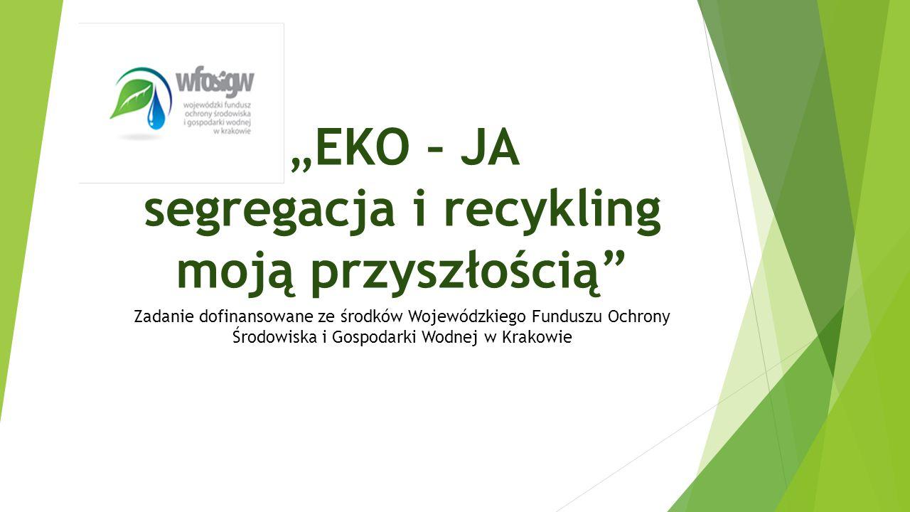 """""""EKO – JA segregacja i recykling moją przyszłością"""