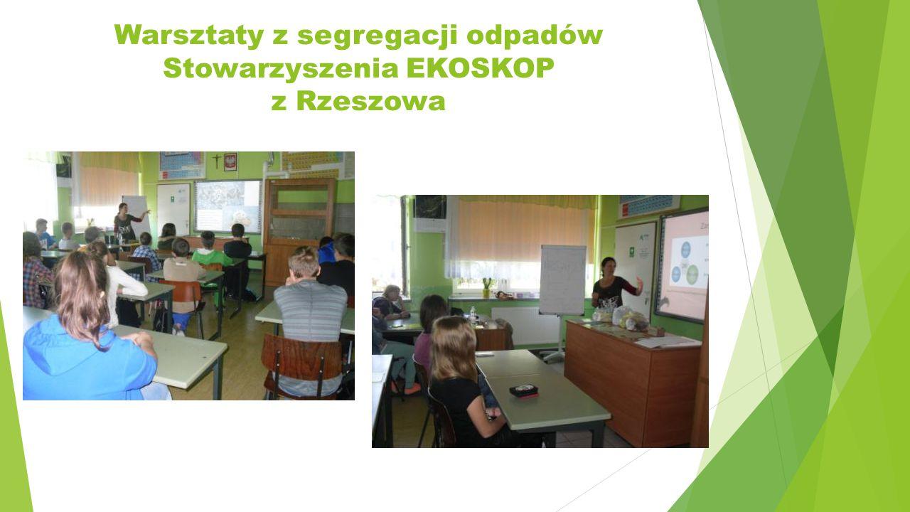 Warsztaty z segregacji odpadów Stowarzyszenia EKOSKOP z Rzeszowa