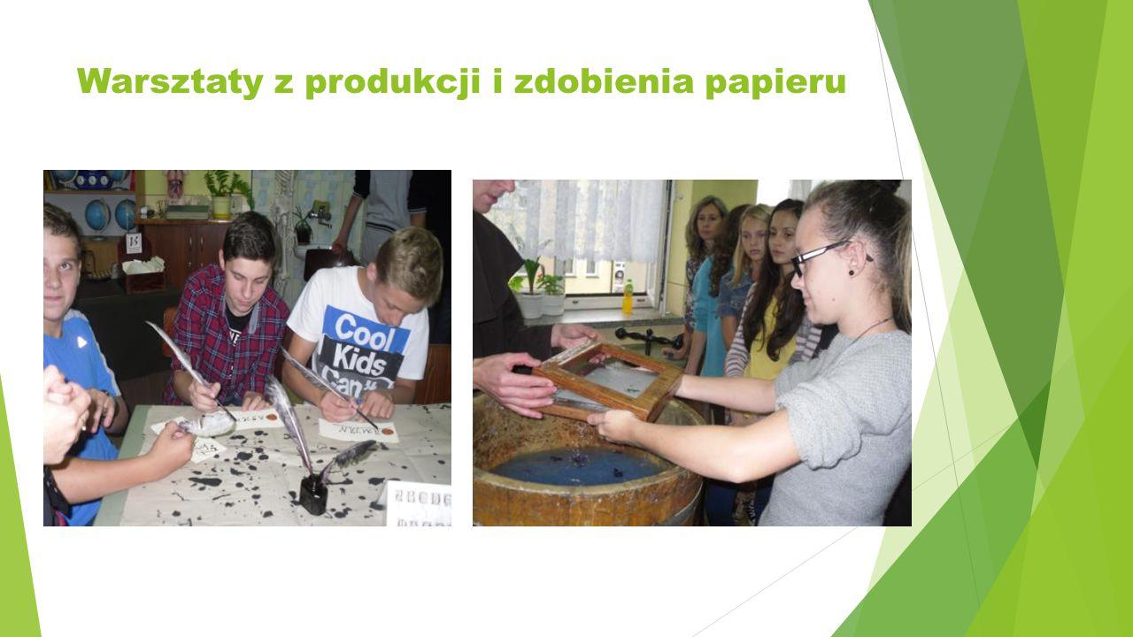 Warsztaty z produkcji i zdobienia papieru