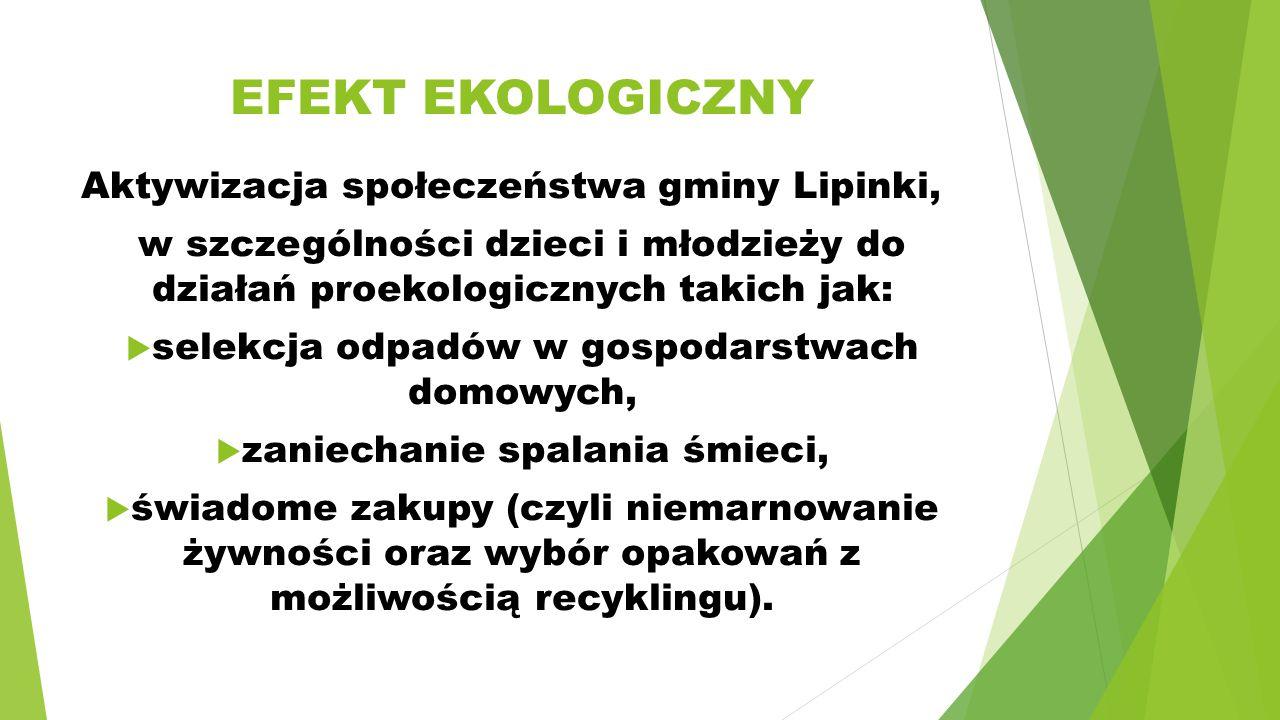 EFEKT EKOLOGICZNY Aktywizacja społeczeństwa gminy Lipinki,