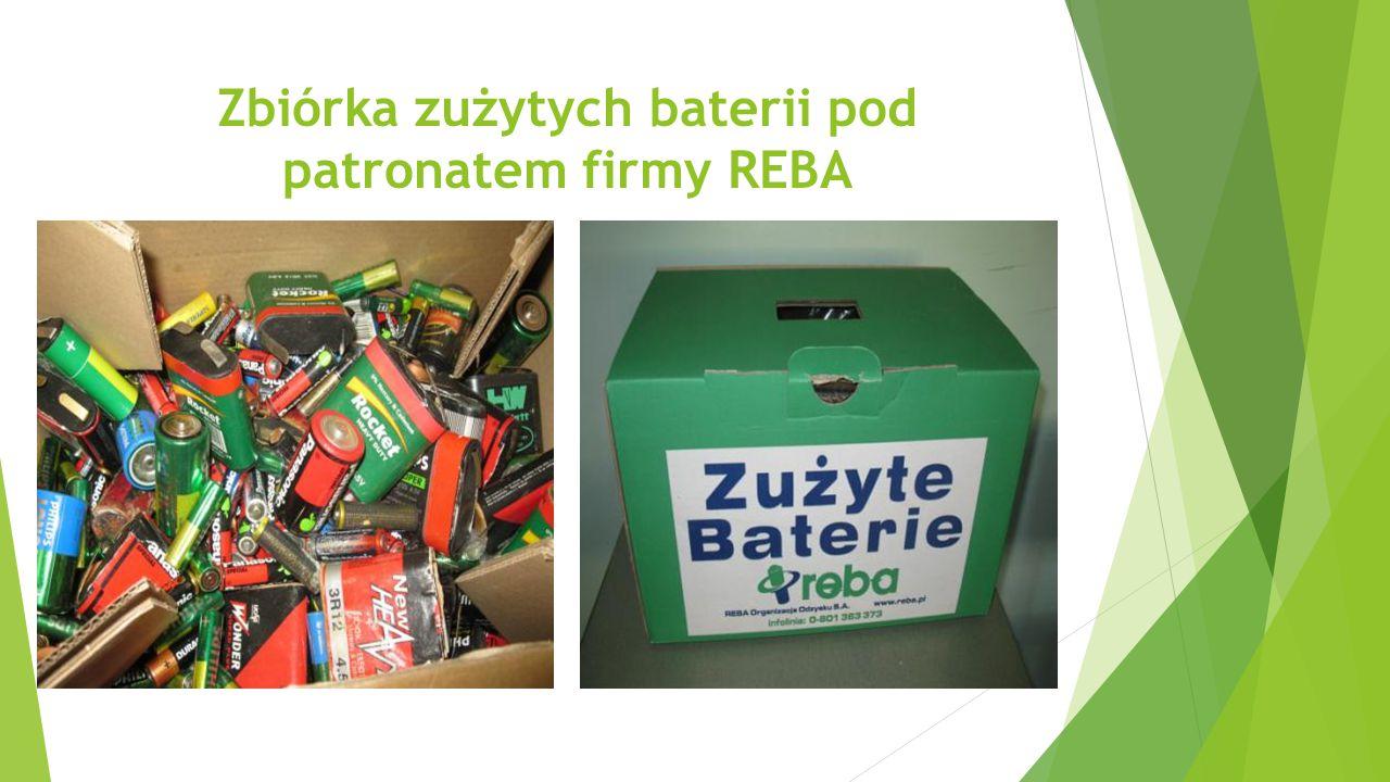 Zbiórka zużytych baterii pod patronatem firmy REBA