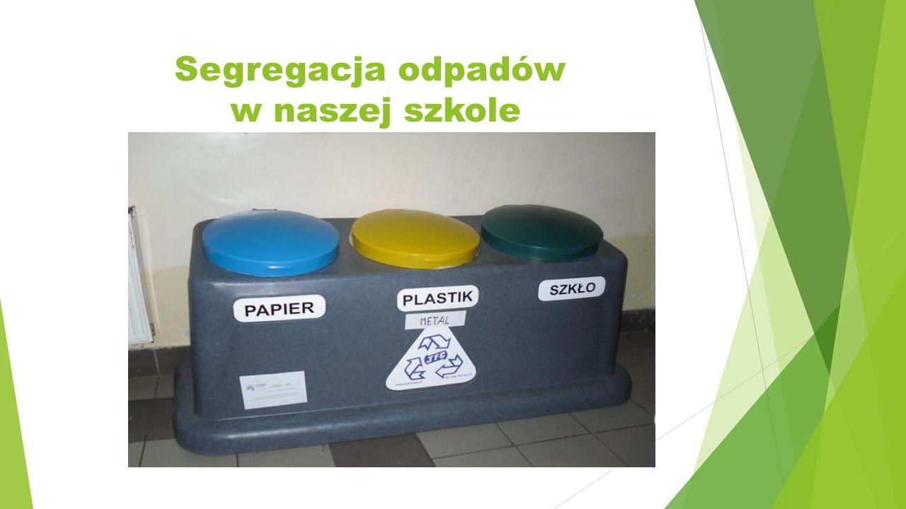 Segregacja odpadów w naszej szkole