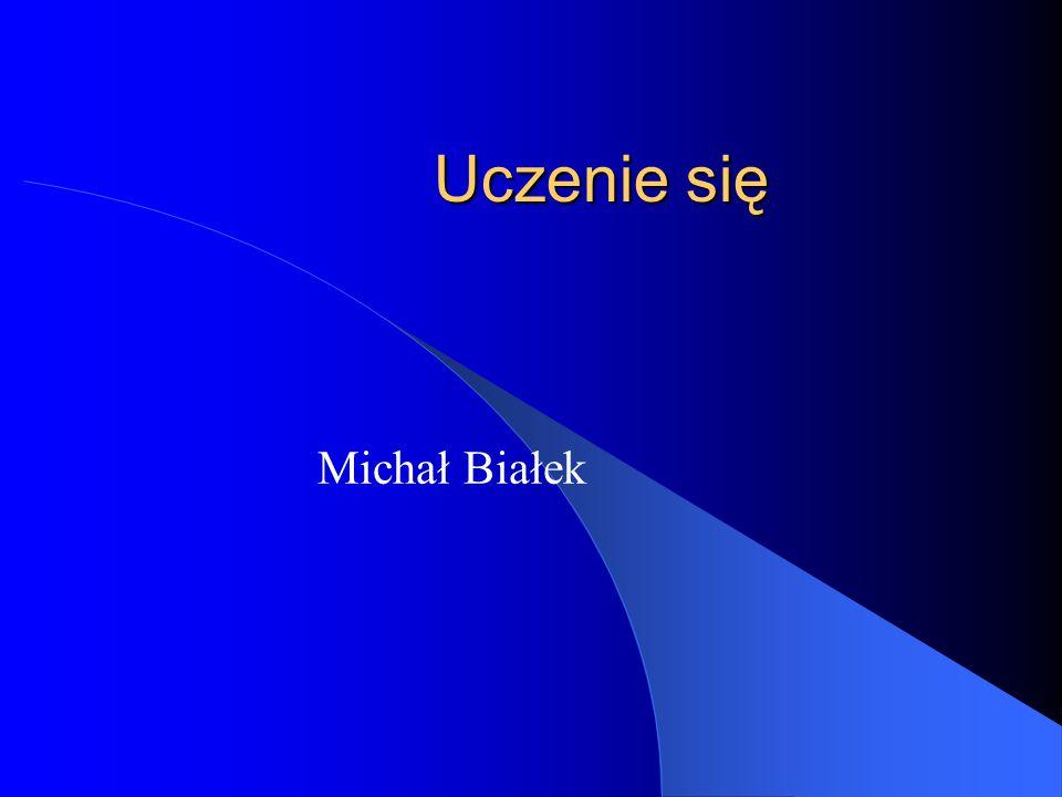 Uczenie się Michał Białek