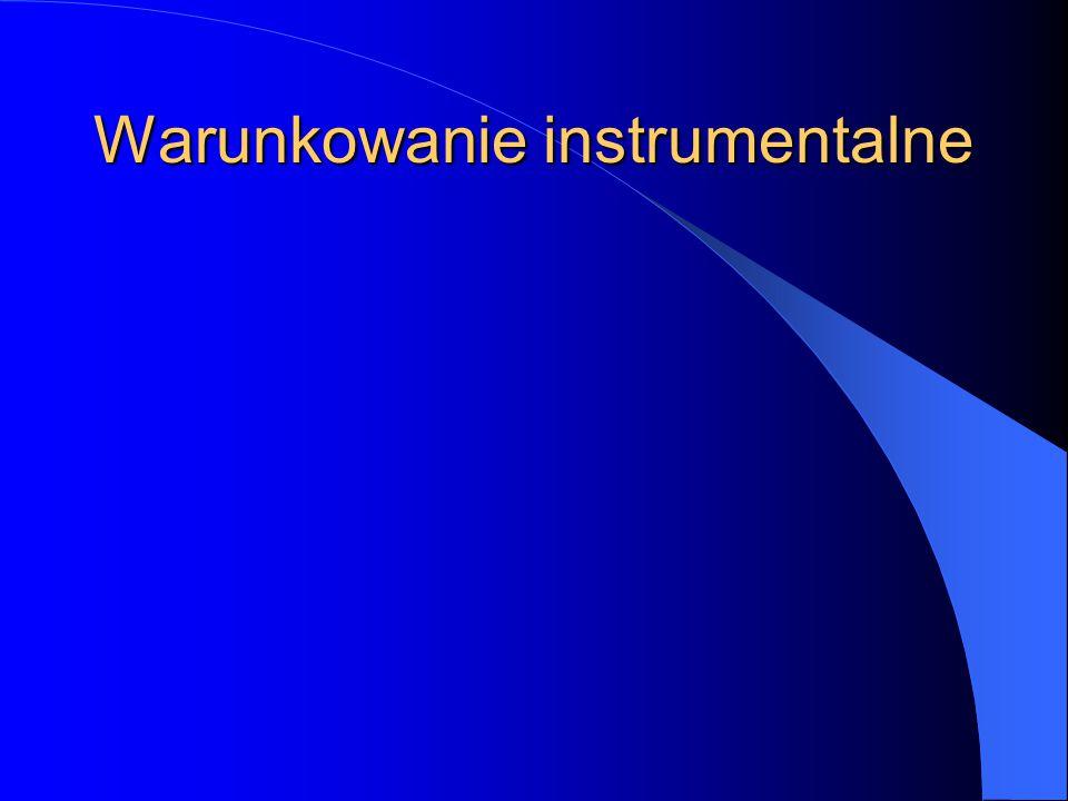 Warunkowanie instrumentalne