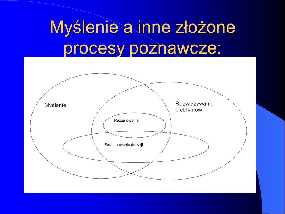 Myślenie a inne złożone procesy poznawcze: