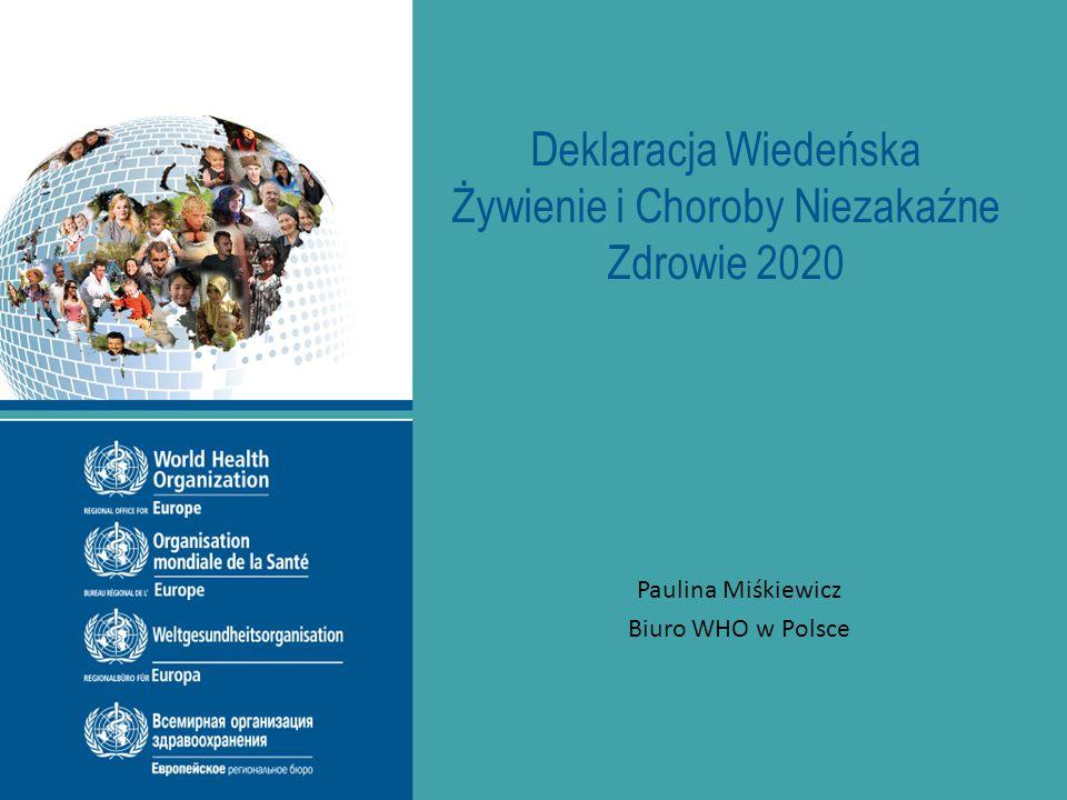 Deklaracja Wiedeńska Żywienie i Choroby Niezakaźne Zdrowie 2020