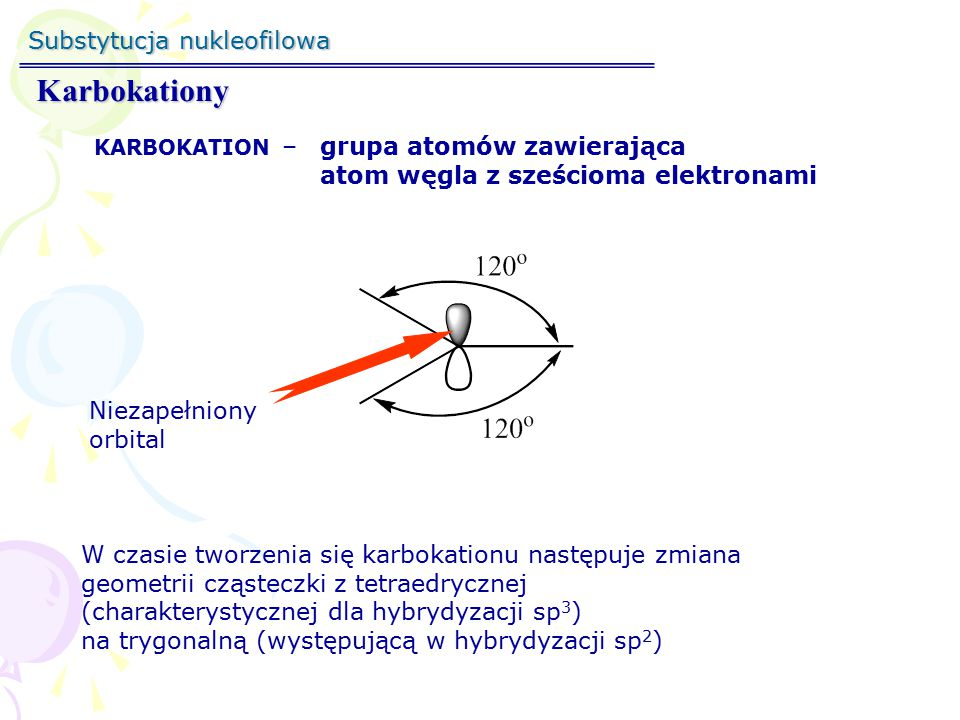 Karbokationy Substytucja nukleofilowa
