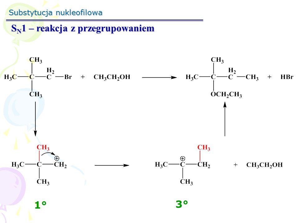 SN1 – reakcja z przegrupowaniem