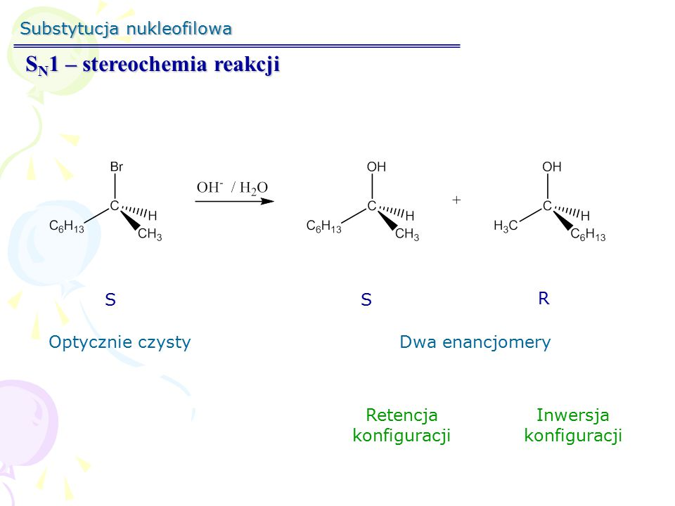 SN1 – stereochemia reakcji