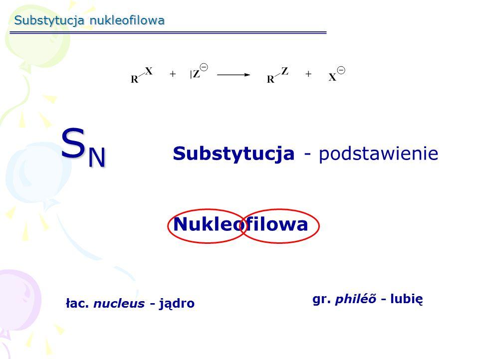 SN Substytucja - podstawienie Nukleofilowa Substytucja nukleofilowa