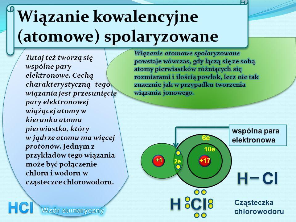 Wiązanie kowalencyjne (atomowe) spolaryzowane
